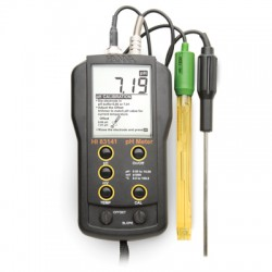 pH/mV/°C meter BNC