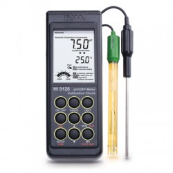 pH/ORP/°C meter with Calcheck