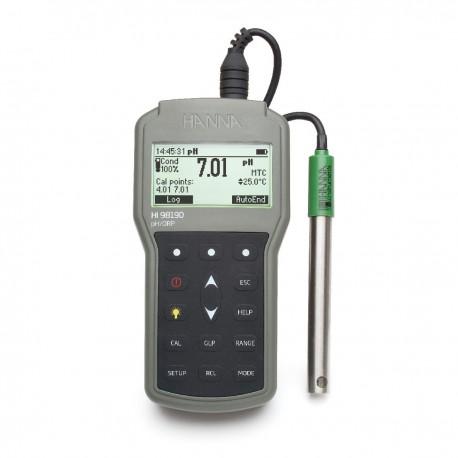 pH/ORP/°C meter Waterproof Log-On-Demand