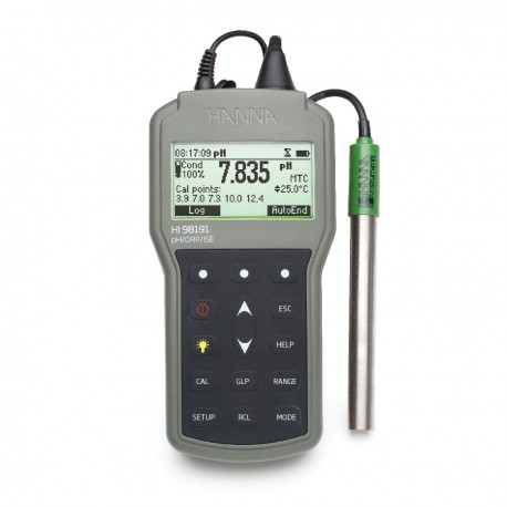 pH/ORP/°C/ISE meter Waterproof