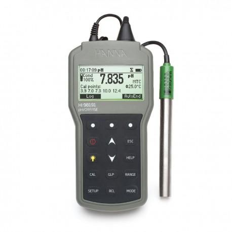 pH/ORP/°C/ISE meter Waterproof Log-On-Demand
